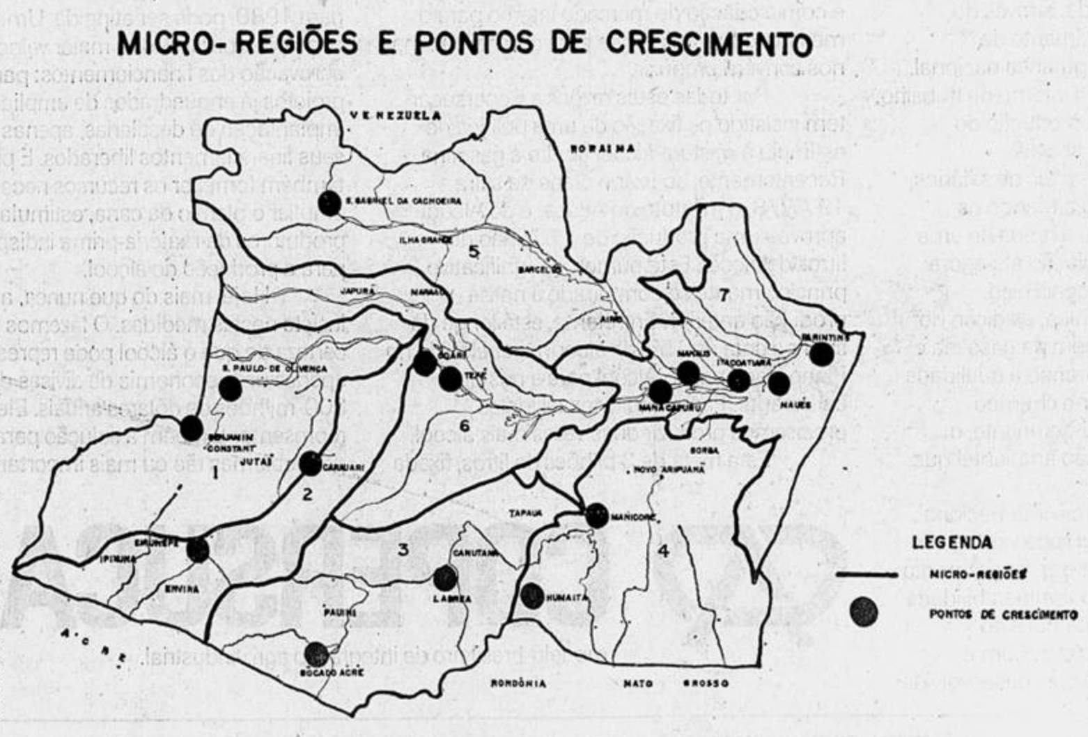 Map of the Amazon basin for the II National Development Plan - Jornal do Brasil (May 26, 1977)